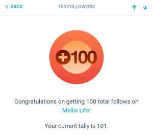 100 Followers Mellix Life